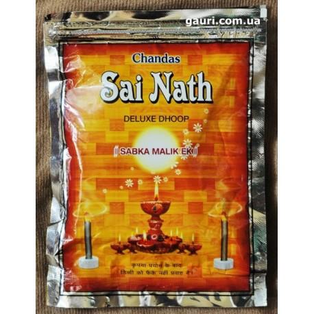Благовоние безосновное Sai Nath Deluxe Dhoop, Chandas, мягкое благовоние с пряным ароматом