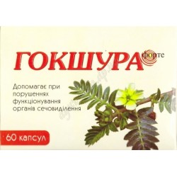 Гокшура форте экстракт, противовоспалительное, стимулирующее и укрепляющее средство, Аюрлаб, Gokshura forte Ayurlab, 60капсул