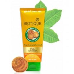 Лосьон солнцезащитный Сандал Биотик SPF75 для лица, Biotique Bio Sandalwood Ultra Soothing Spf 75+ Face Lotio, 50мл