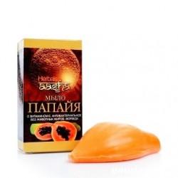 Аюрведическое мыло ААША Папайя, Ayurvedic Soap Papaya, Synaa Herbal Mix, 75грамм