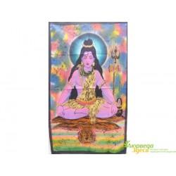 Панно Боги, Шри Шива на синем фоне, 75х115 ручная работа