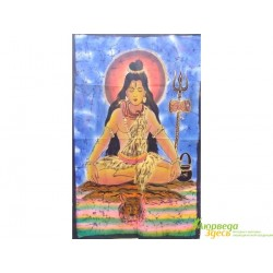 Панно Боги, Шри Шива на голубом фоне, 75х115 ручная работа
