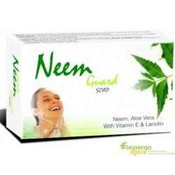Мыло антибактериальное экстрактом с Нима, Алое Вера, Zee Neem Guard Soap Zee Laboratories, 75грамм