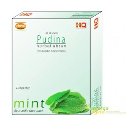 Маска для лица травяная Мята Кхади, Hill Queen Khadi Mint Herbal Face Pack Pudina