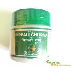 Пиппали Чурна, улучшающее пищеварение противовоспалительное средство, Pippali Churna, 50грамм