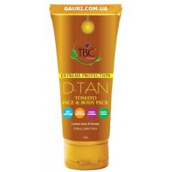 Маска отбеливающая с Томатом, для лица и тела, TBC Proveda Herbals D Tan Tomato Face and Body Pack, 100мл