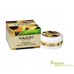 Крем для лица и тела Папайя, Vaadi Herbals Papaya Face & Body Cream