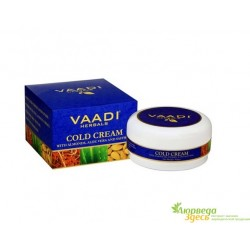 Крем с Миндальным маслом, Алоэ Вера и Шафраном, Vaadi Herbals Herbals Cold Cream With Almond Oil & Aloe Vera