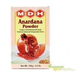 Анардана приправа, высушенные зёрна Граната Anardana powder MDH, эксклюзивная и полезная приправа