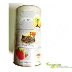 Черный Индийский чай Мери Чай Ассорти 3 в 1 в железной банке 120грм., Meri Chai Assorti Tea