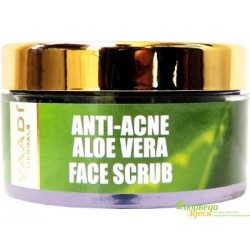 Скраб анти акне с Алоє и Шамбалой, Vaadi Herbals Anti-acne Aloe Vera Face Scrub