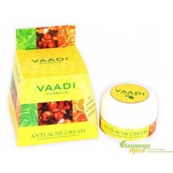 Крем анти-акне с Нимом, Гвоздикой и Апельсином, Vaadi Herbals Anti-Acne Cream