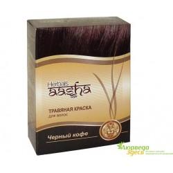 Травяная краска Ааша Хербалс Черный Кофе, AASHA Herbals