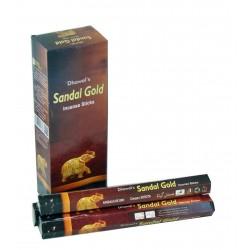 """Благовоние Сандал Золото, Sandal Gold Dhawal""""s, 20 палочек"""