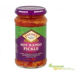 Манго маринованный 283 грм. стекляная банка, Манго Пикл, Mango Pickle Patak's, вся Индия в одной банке!