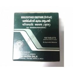 Манжиштади Кватам, Манджиштади Кват, Manjishthadi Kwatham (Brihat), Rubia Cordifolia, Arya Vaidya Sala, лечение заболеваний кожи