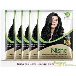 Хна для волос чёрная ТМ Nisha 10 грм.