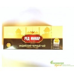 Черный индийский чай Мери Чай Рэд Минар, Meri Chai, Red Minar, Indian Black Tea, 25 пакетиков