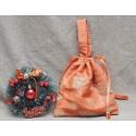 Мешочки для подарков на одной ручке, вискоза-шёлк, золотистые, ручная работа