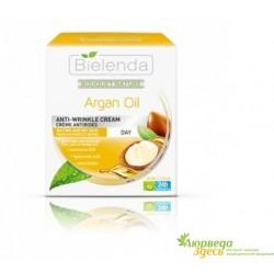 Крем для лица с Аргановым маслом омолаживающий 50 мл., Bielenda Bouquet Nature Argan Oil Anti-Wrinkle Cream Night