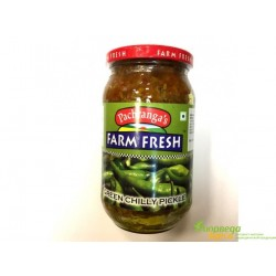 Зелёный перец Чили маринованный в стекляной банке, Грин Чили Пикл, Green Chilli Pickle Pachranga's, вся Индия в одной банке!