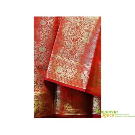 Классическое Сари Raj Rubi Saree -1 красное