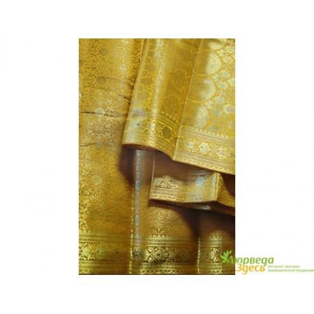 Классическое Сари Raj Rubi Saree -2 песочно-горчичное