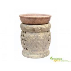 Аромалампа каменная Сова, круглая арт.Aut2014Y