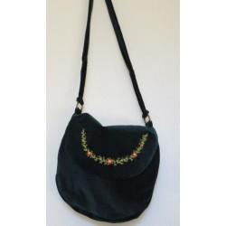 Бархатная сумка c ручной вышивкой
