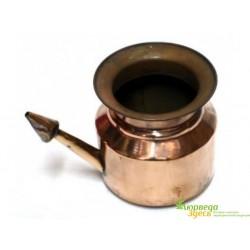 """Нети пот - чайник для промывки носа медный """"Neti pot"""" 400мл"""