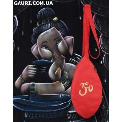 Мешочек для чёток с ручной росписью Омкара (ОМ)