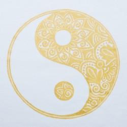 Мужская футболка с ручной росписью Ведические Символы, Инь Янь