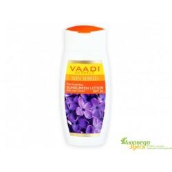 Лосьон солнцезащитный с экстрактом Cирени SPF30, Vaadi Herbals Sunscreen Lotion with Lilac Extract, Spf 30