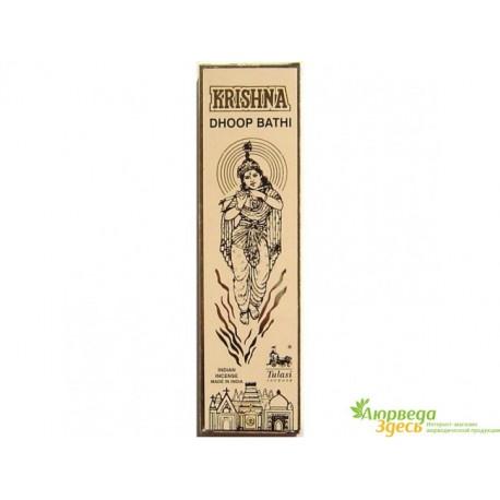 Благовоние пыльцовое Krishna Dhoop Bathi, 25г., Tulasi, Кришна Дхуп Бати