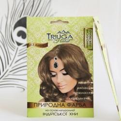 Краска Тёмно Русая для волос на основе натуральной Хны Триюга-ОМ, Triuga Herbal 25грамм