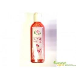 Розовая вода для ухода за кожей лица с экстрактом Алоэ и Ветивера, Rose Water Proveda Herbals, TBC, 100мл