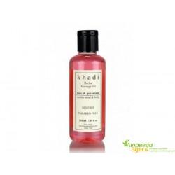 Масло массажное Роза и Герань Кхади, Khadi Herbal Massage oil Rose & Geranium Soothes Mind & Body, 210мл.