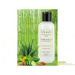 Молочко очищающее с экстрактом Огурца и Алоэ Вера, Khadi Natural Herbal Cucumber and Aloe Vera Cleansing