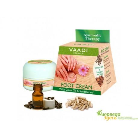 Крем для ног Ваади с Сандалом и Гвоздикой, Vaadi Herbals Clove & Sandal Oil Foot Cream
