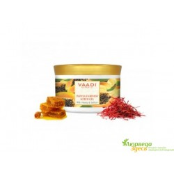 Скраб-гель Папайя с Шафраном и Мёдом Ваади, Vaadi Herbals Papaya fairness Face Scrub