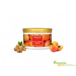 Скраб для лица и тела Грецкий орех и Абрикос Ваади 30г., Vaadi Herbals Face & Body Scrub with Walnut & Apricot