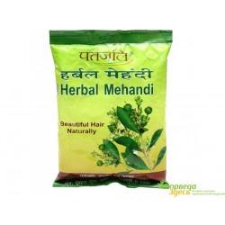 Хна для волос Патанджали с натуральными аюрведическими травами и плодами, Patanjali Herbal Mehandi BEAUTIFUL HAIR NATURALLY