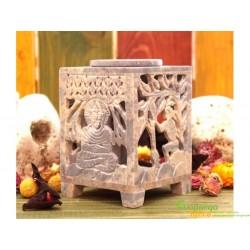 Аромалампа каменная квадратная, Шри Будда, 12*8*8см., 9120107 арт.99949.
