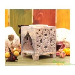 Аромалампа каменная квадратная,9,5*7,5*7,5см. 9120042 арт.SW-9901