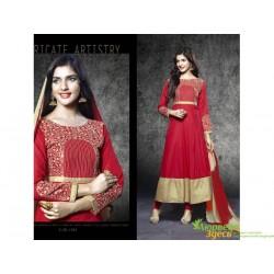 Костюм Anarkali Heer красный, шикарный восточный костюм, Индия!