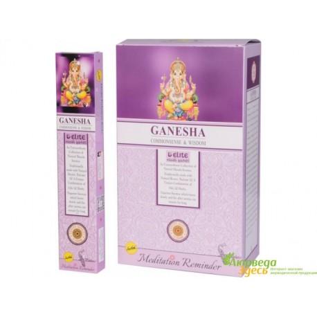 Благовоние пыльцовое Ganesha, Sree Vani, 15 г. со свежим ароматом Сандала и Белого Муска
