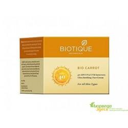 Солнцезащитный крем для лица Биотик Морковь SPF 40 Biotique Bio Carrot Face Sun Cream