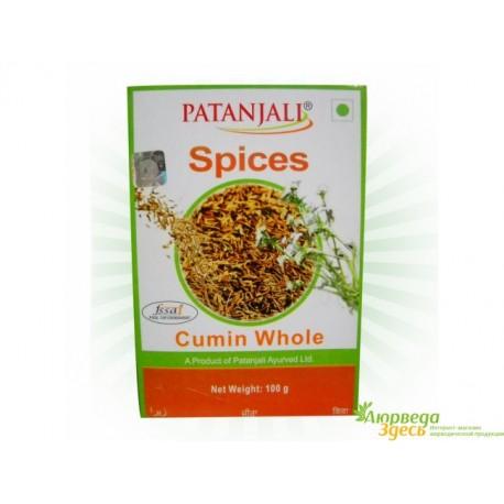 Кумин (Зира), Патанджали, 100 г, Cumin Whole, Patanjali 100 g