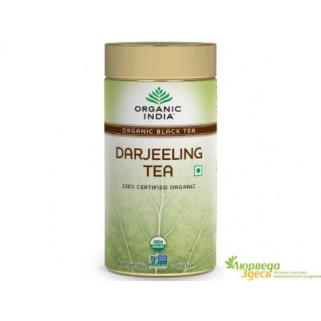 Чай Дарджилинг Органик Индия, Darjeeling Tea, Organic India, 100 грм.