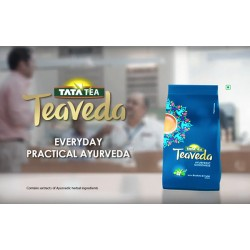 Чай ТиаВеда с добавлением Брахми и Туласи, Индийский Чай Ассам, высококачественный, Tata Tea Teaveda with Brahmi and Tulsi